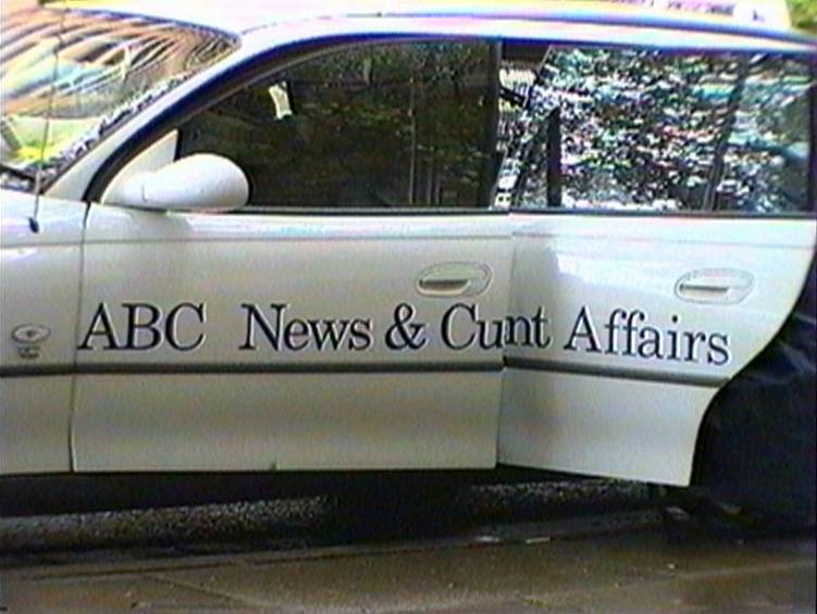 Car doors resulting in ABC News and Cunt Affairs