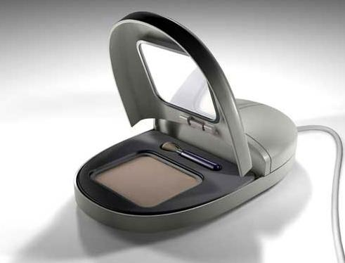 mouse opens to reveal makeup compact