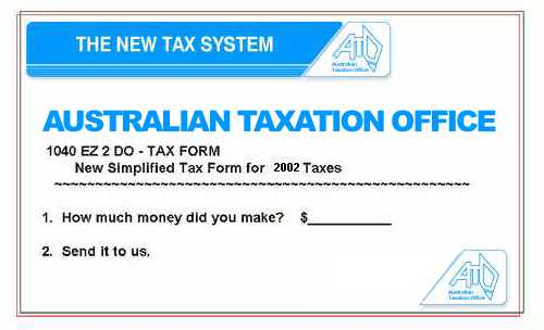 New Tax Form - Step one - How much money did you make? Step two - Send it to us.